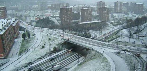 Temporal nieve Bilbao Castro